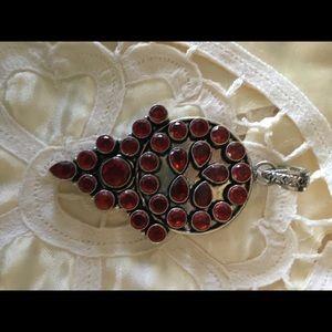 Jewelry - Large Garnet Pendant